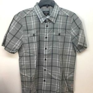Quiksilver Men's Waterman Mitchell Gray Shirt Sz M